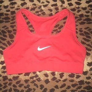 Nike sports bra coral color